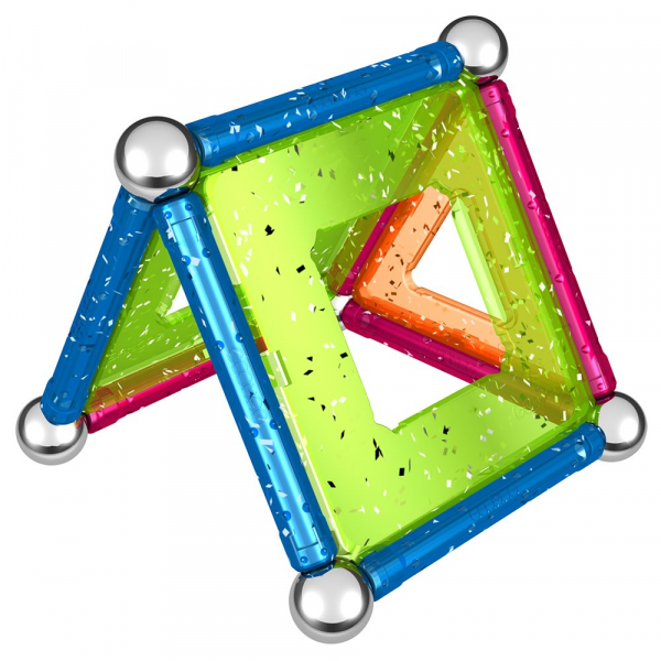 Set de constructie magnetic Geomag Glitter 22 piese 4