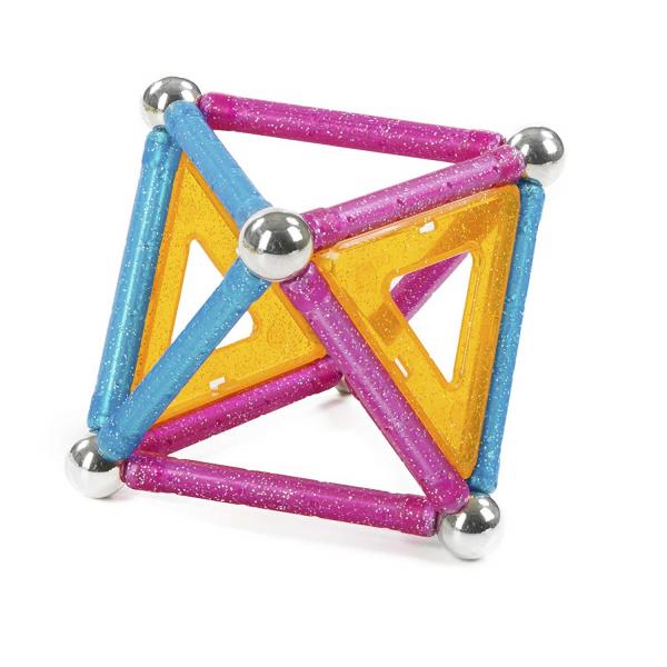 Set de constructie magnetic Geomag Glitter 22 piese 2