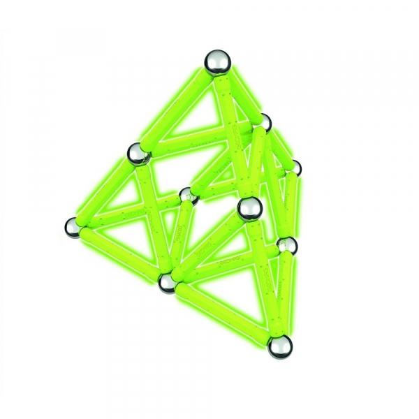 Set de constructie magnetic Geomag Glow 40 piese 4