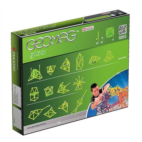 Set de constructie magnetic Geomag Glow 40 piese 2