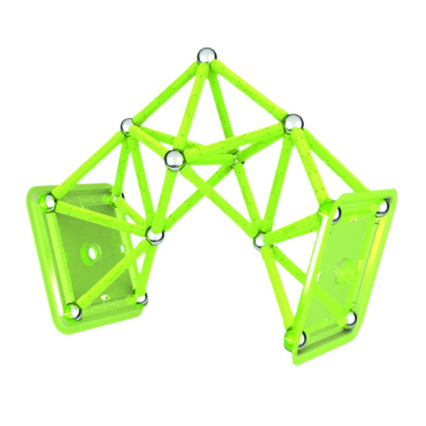 Set de constructie magnetic Geomag Glow 64 piese 3