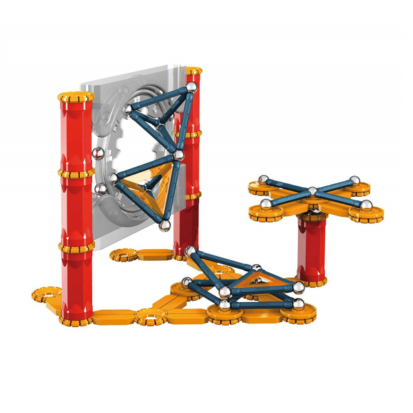 Set de constructie magnetic Geomag Mechanics 164 piese 1