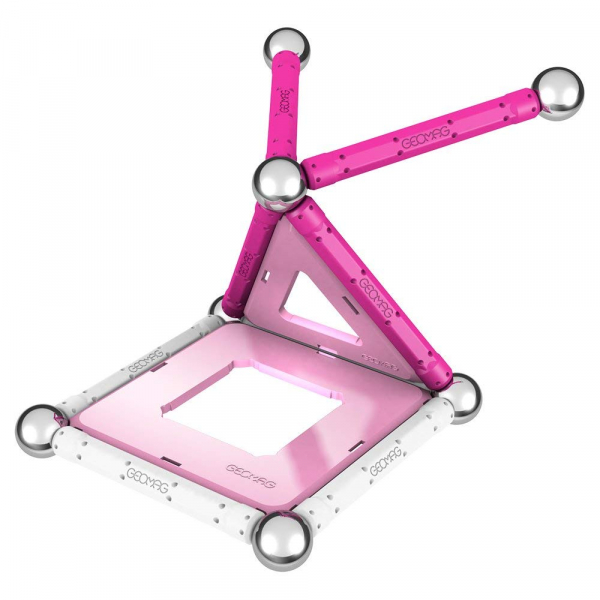 Set de constructie magnetic Geomag Pink 22 piese [1]