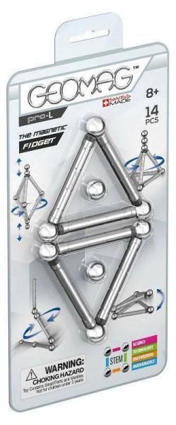Set de constructie magnetic Geomag PRO-L Magnetic Fidget 14 piese 0