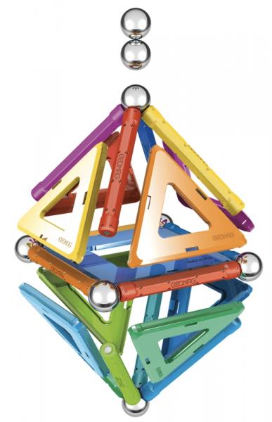 Set de constructie magnetic Geomag Rainbow 32 piese 1