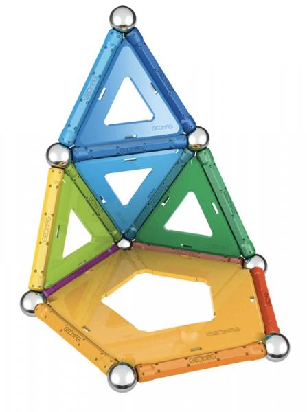 Set de constructie magnetic Geomag Rainbow 32 piese 3