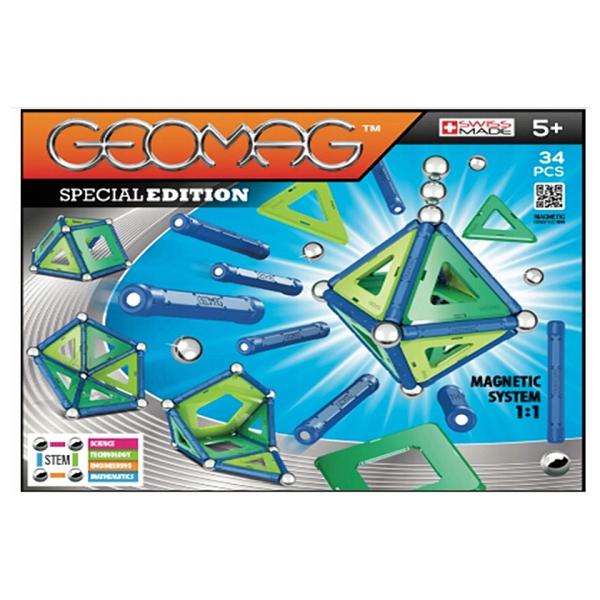 Set de constructie magnetic Geomag Editie Speciala 34 piese 0