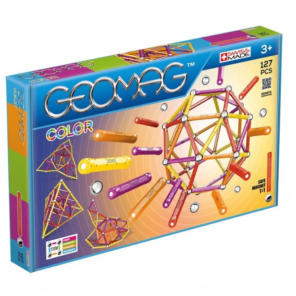 Set de construit Geomag 127 piese colorate [0]