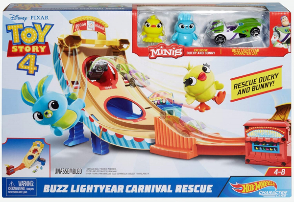 Set de joaca Toy Story 4 Hot Wheels Buzz Lightyear Carnival Rescue 3