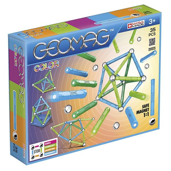 Set de constructie magnetic Geomag color 35 piese 0