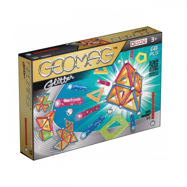 Set de constructie magnetic Geomag Glitter 68 piese [0]