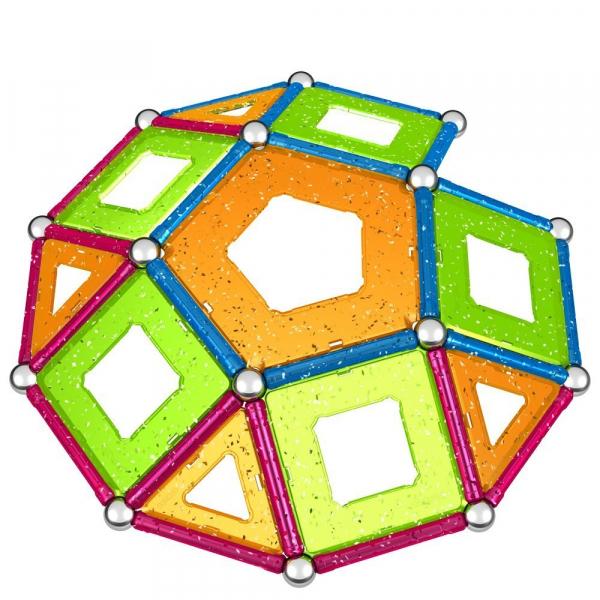 Set de constructie magnetic Geomag Glitter 68 piese [2]