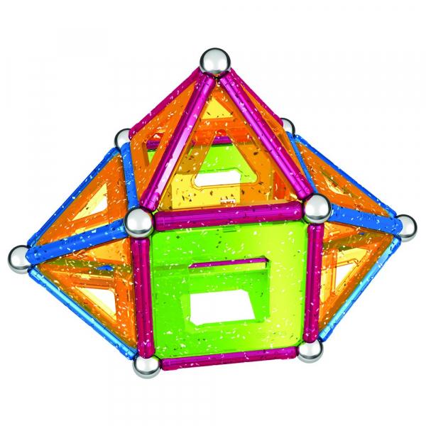 Set de constructie magnetic Geomag Glitter 68 piese [1]