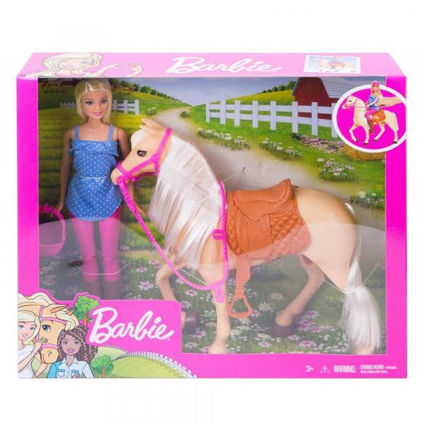 Papusa Barbie cu calut Mattel 3
