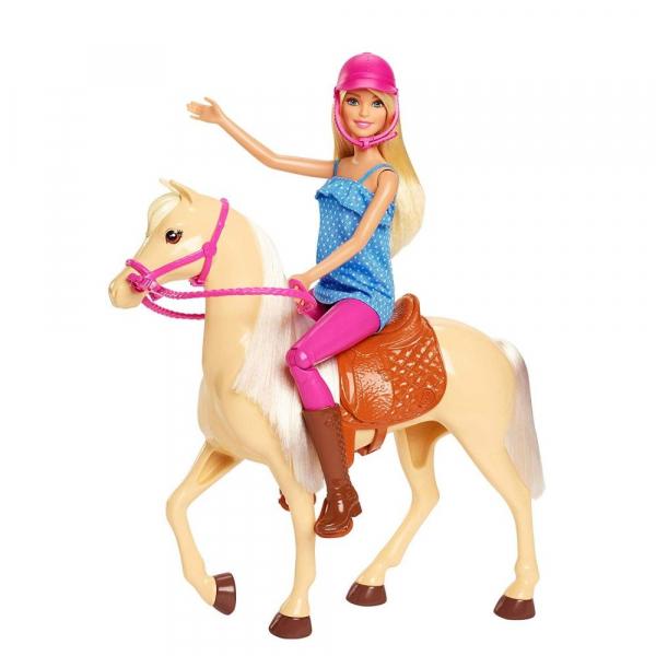 Papusa Barbie cu calut Mattel 0