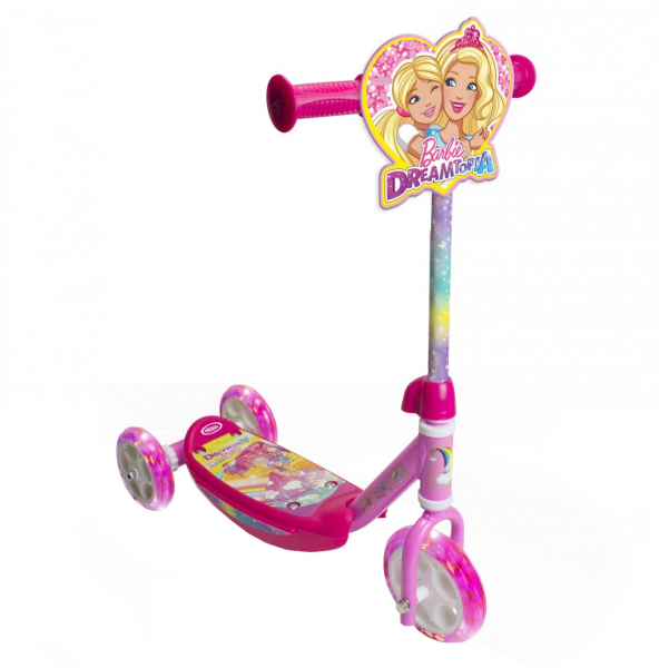 Trotineta copii D'arpeje Barbie Dreamtopia cu lumini LED si 3 roti 0