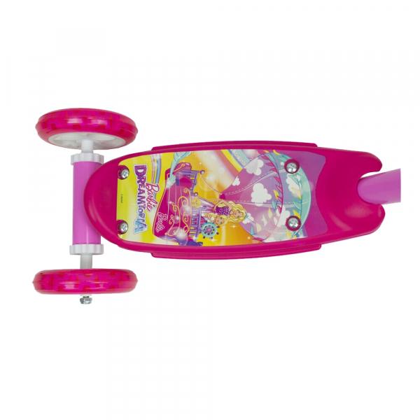 Trotineta copii D'arpeje Barbie Dreamtopia cu lumini LED si 3 roti 1