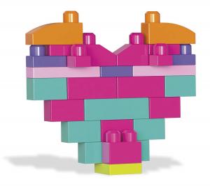 Set cuburi de construit Mega Bloks - 80 de bucati pentru fetite Fisher-Price2