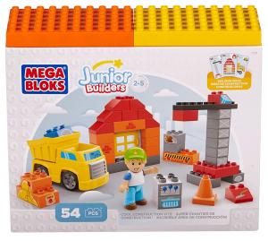 Set de constructie Mega Bloks santier cu camion, 54 cuburi0
