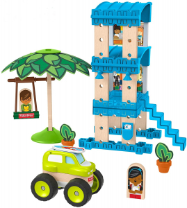 Set constuctie Fisher-Price Wonder Makers Beach Bungalow 35 piese0
