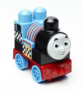 Set de joaca Mega Bloks Locomotiva Thomas vagon cursa de cale ferata [2]