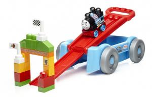 Set de joaca Mega Bloks Locomotiva Thomas vagon cursa de cale ferata [0]