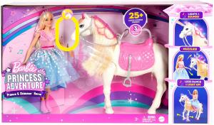 Papusa Barbie Princess Adventure si calul ei magic0