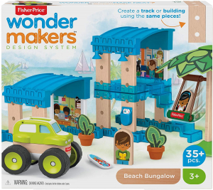 Set constuctie Fisher-Price Wonder Makers Beach Bungalow 35 piese1
