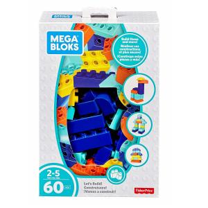 Set Cuburi Colorate de Construit Mega Bloks 60 de piese [0]