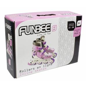Role copii Funbee, reglabile 31-34, roz1