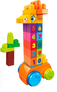 Jucarie interactiva Mega Bloks Girafa cu numere, 30 de piese0