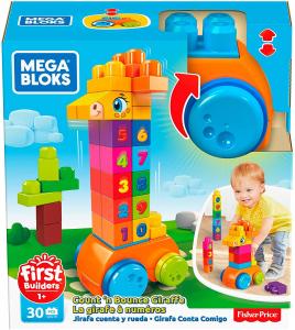Jucarie interactiva Mega Bloks Girafa cu numere, 30 de piese6