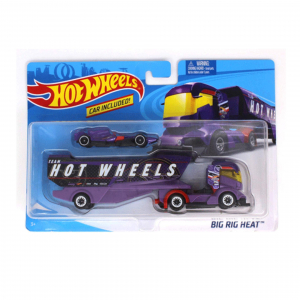 Set de joaca Mattel Hot Wheels Camion si masinuta Big Rig Heat1
