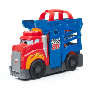 Set de constructie Mega Bloks Camion cu masinuta si pista de lansare, 10 piese0