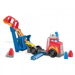 Set de constructie Mega Bloks Camion cu masinuta si pista de lansare, 10 piese1