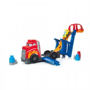 Set de constructie Mega Bloks Camion cu masinuta si pista de lansare, 10 piese3