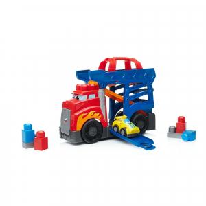 Set de constructie Mega Bloks Camion cu masinuta si pista de lansare, 10 piese4