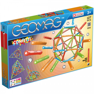 Set de constructie magnetic Geomag, Confetti, 127 piese0