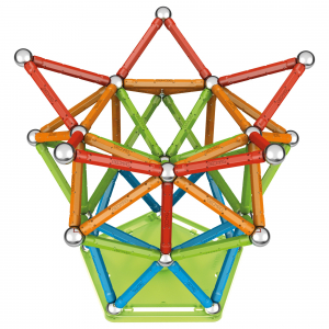Set de constructie magnetic Geomag, Confetti, 127 piese2