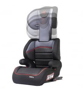 Scaun auto Babyauto Jan FIX PLUS, Isofix, 15-36 Kg, Negru/Gri [3]