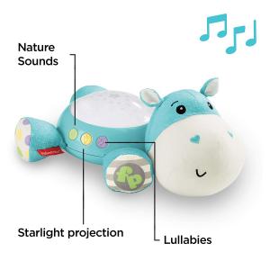 Lampa de veghe Fisher Price, Hippo de plus cu proiector si muzica1
