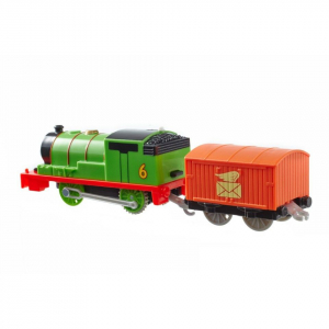 Locomotiva trenulet motorizat Percy cu vagon posta Thomas & Friends TrackMaster1