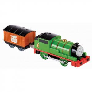 Locomotiva trenulet motorizat Percy cu vagon posta Thomas & Friends TrackMaster3