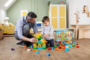 Set Fisher-Price Cuburi Colorate de Construit Mega Bloks 150 de piese [3]
