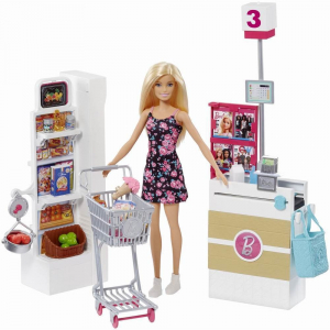Set joaca Barbie, Supermarket, Mattel0