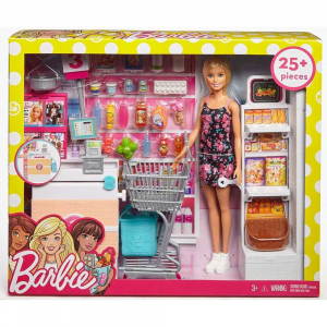 Set joaca Barbie, Supermarket, Mattel1