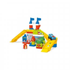 Set de constructie Mega Bloks Garajul masinilor de curse, 60 piese1