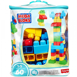 Set Fisher-Price Cuburi Colorate de Construit Mega Bloks 60 de piese [0]