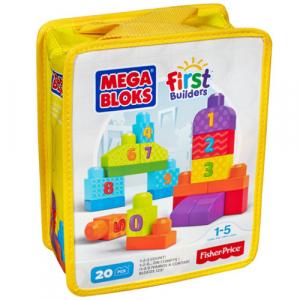 Set Fisher-Price de Construit Numere 20 de Piese Mega Bloks0