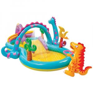 Centru de joaca cu piscina Intex Dinoland 333x229x112 cm0